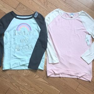 💕NWT bundle of 2 Soft Fleece girl's Sweatshirts